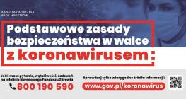 Koronawirus: Podstawowe zasady bezpieczeństwa