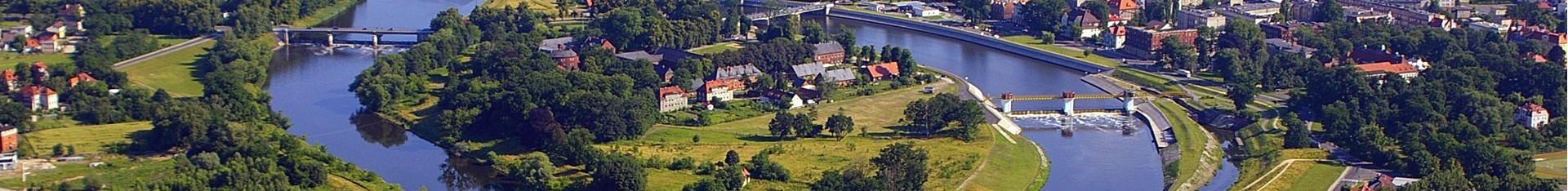Widok na Kędzierzyn-Koźle z lotu ptaka