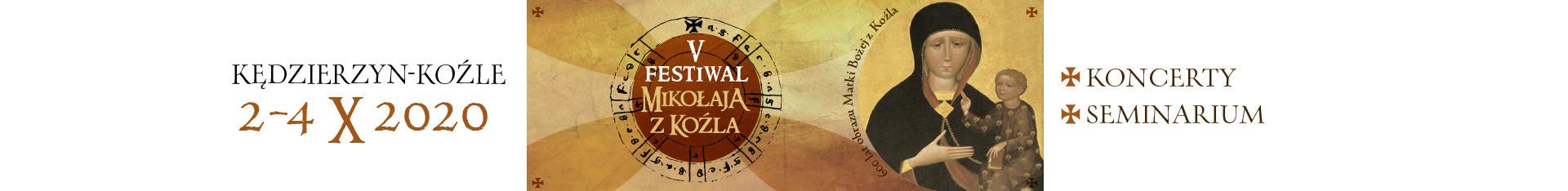 V Festiwal Mikołaja z Koźla - 2 - 4 października 2020 roku